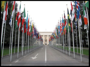 ['The Palais des Nations in Geneva, Switzerland': image by Gryffindor under license CC 3.0]