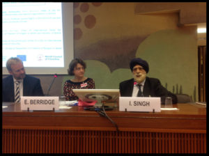 [Above: Right to Left, Baroness Berridge and Lord Singh during panel debate]